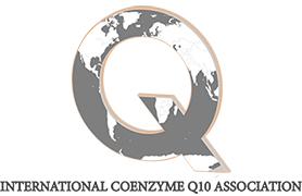 A letter Q with a map of the world inside it and the caption International Coenzyme Q10 Association